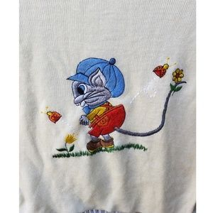 LeRoy Knitwear Sweaters - Vintage LeRoy Knitwear Embroidered Mouse Sweater